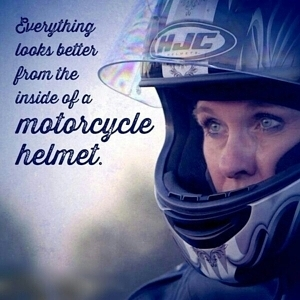 Everything Looks Better from a Motorcycle Helmet