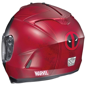 HJC IS-17 Deadpool Helmet back