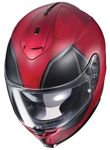 HJC IS-17 Deadpool Helmet front