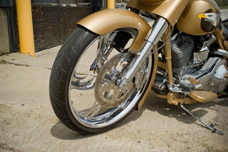 Bobber Motorcycle Front Wheel