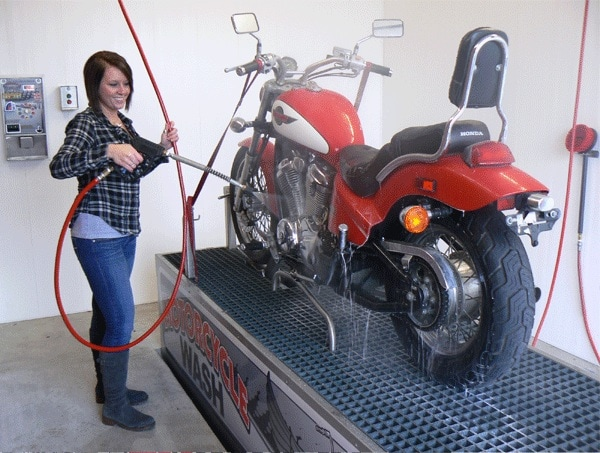 Washing a Motorcycle for Winter
