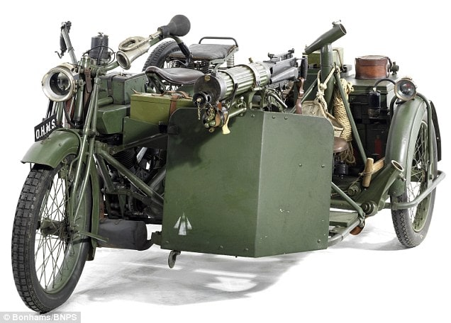 WW1 Motorcycle with Sidecar