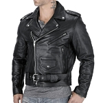 Viking Cycle Angel Fire Leather Motorcycle Jacket