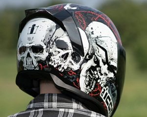 Icon Airflite Helmet Skull Graphic Design